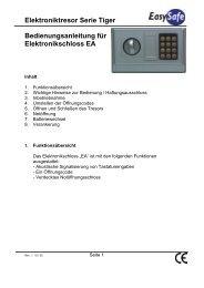 Elektroniktresor Serie Tiger Bedienungsanleitung für ...