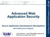 Advanced Web Application Security - Secure Application Development