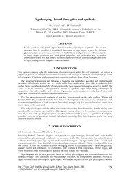 Sign language formal description and synthesis - CiteSeerX