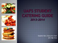 UCA Student Catering Guide 2011-2012 - CampusDish