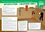 orienteering - counting cones - School Games
