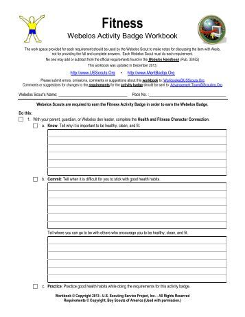 Personal Merit Badge Worksheet Answers - The Best and Most ...
