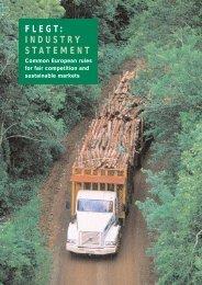 FLEGT: INDUSTRY STATEMENT - WWF