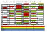 PLANIFICATION compétition Geneva ski team 2011-2012