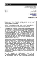 ganze Meldung downloaden (.pdf) - Freie Wohlfahrtspflege Bayern