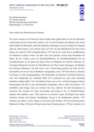 Lesen Sie mehr - Jüdische liberale Gemeinde Wien