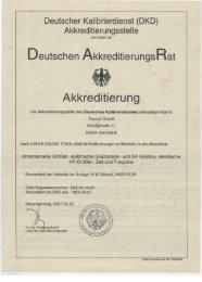 Deutscher Kalibrierdienst - der Trescal GmbH.
