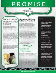 The Promise Newsletter Fall 2012 - Girl Scouts of Central Illinois