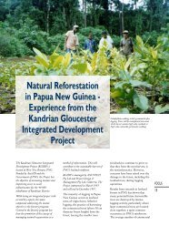 Natural Reforestation in Papua New Guinea - Experience ... - AusAID
