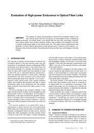 Evaluation of High-power Endurance in Optical Fiber Links