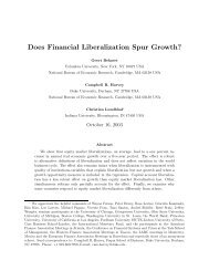 Does Financial Liberalization Spur Growth? - Columbia Business ...