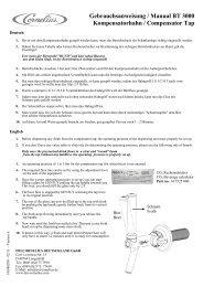 Gebrauchsanweisung / Manual BT 3000 ... - IMI Cornelius