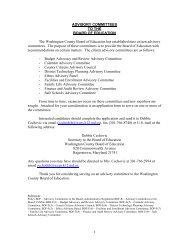 Advisory Committee Application - Washington County, MD Public ...