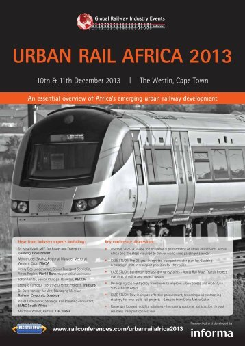 Download your free brochure PDF. - Rail Conferences