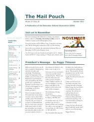 The Mail Pouch - please join us for our next meeting
