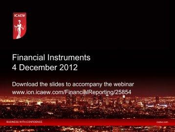 Financial Instruments 4 December 2012 - ICAEW