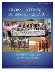 the journal - College of Education - University of Utah