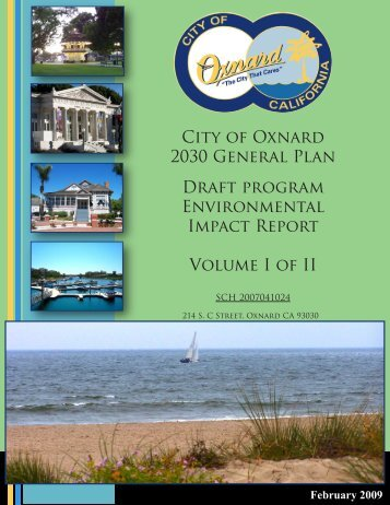 2030 GP Vol I Draft PEIR - Development Services - City of Oxnard