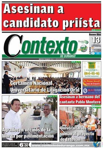 13/06/2013 - Contexto de Durango
