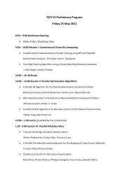 PCO'12 Preliminary Program Friday 25 May 2012