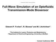 Optofluidic Biosensor - COMSOL.com