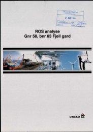 ROS analyse Gnr 58, bnr 63 Fjell gard - Fjell kommune