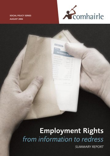 Summary of Employment Rights from Information to Redress: A ...