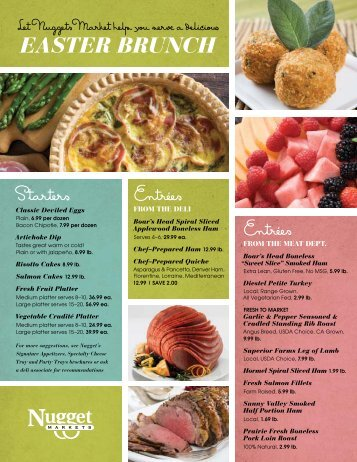Easter brunch menu atria 39 s restaurant and tavern for Restaurants serving easter brunch near me
