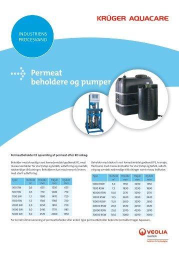 Permeat beholdere og pumper - Krüger A/S