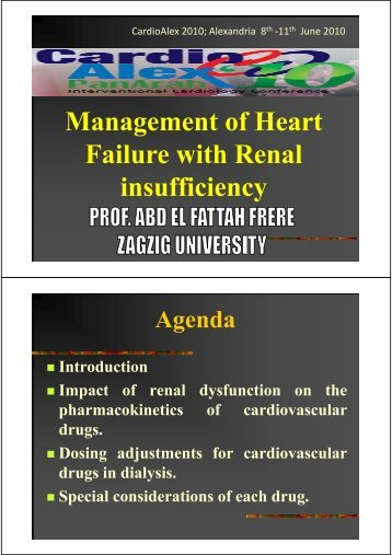 Management of Heart Failure with Renal insufficiency