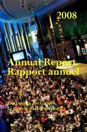 Rapport annuel 2008 Annual Report - Ottawa Art Gallery