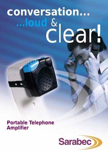portable telephone amplifier