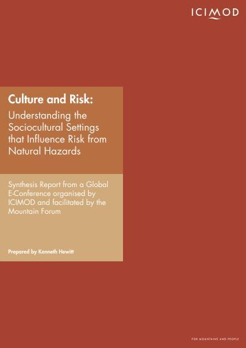 Culture and Risk: - Himalayan Document Centre - icimod