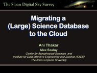 (Large) Science Database to the Cloud - Data-Intensive Distributed ...