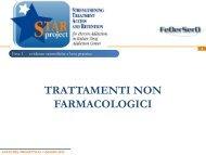 Trattamenti non farmacologici - FeDerSerd