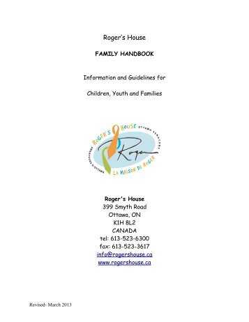 Family Hand Book (PDF) - Roger's House