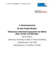 """3. Zwischenbericht für das Projekt ModUs: """"Modulares ... - CJD Bonn"""