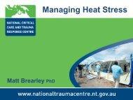 Managing Heat Stress - Comcare