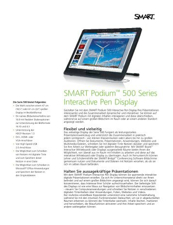 SMART Podium 500 - EDV & Service GmbH