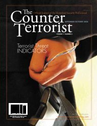 Terrorist Threat INDICATORS - onPoint Tactical LLC
