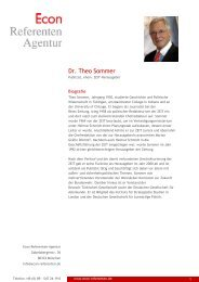 Dr. Theo Sommer - Econ Referenten-Agentur