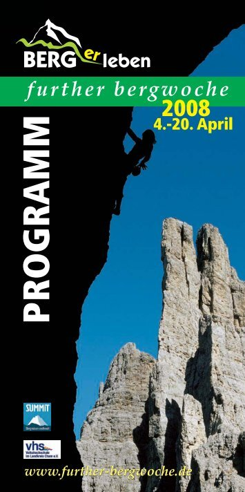 further bergwoche - Ostbayern-Climb.de