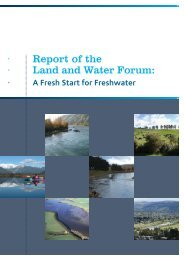 A Report of the Land and Water Forum - AgEcon Search