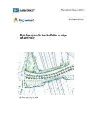 Åtgärdsprogram för barriäreffekter av vägar och järnvägar