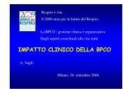 Impatto clinico della BPCO