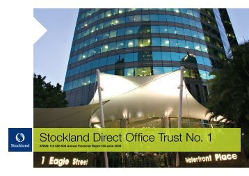 SDOT1 Financial Report 30 June 2008 - Stockland