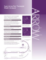 Super Arrow-Flex® Transseptal Sheath Introducer