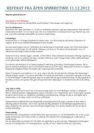 referat fra åpen spørretime 11.12.2012 - Namsskogan kommune
