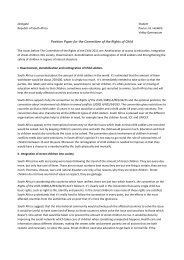Position Paper for the Committee of the Rights of Child - munol