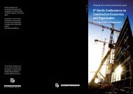 6th Nordic Confererence on Construction Economics and Organisation